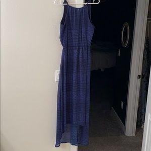 Dark blue high low dress. Worn one time.